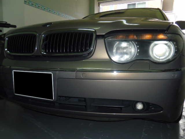 BMW745Li ヘッドライトコーティング