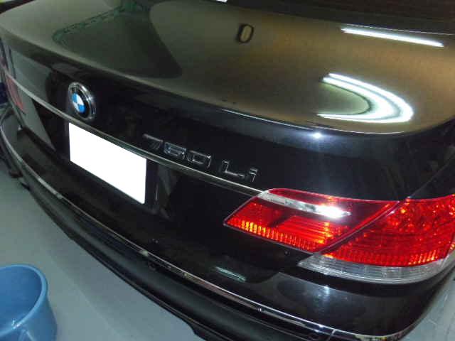BMW750 凹み修理