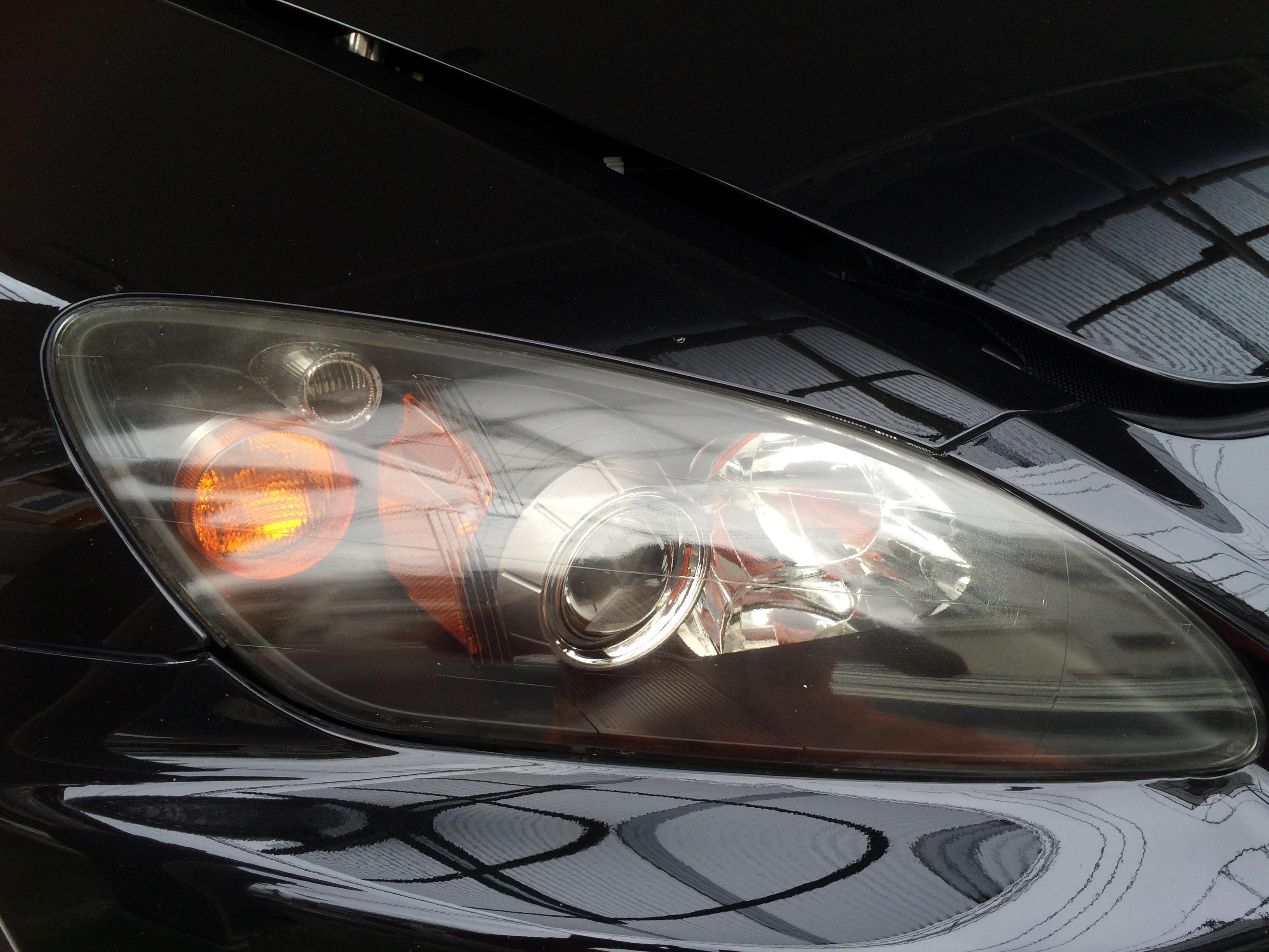 S2000ヘッドライトコーティング