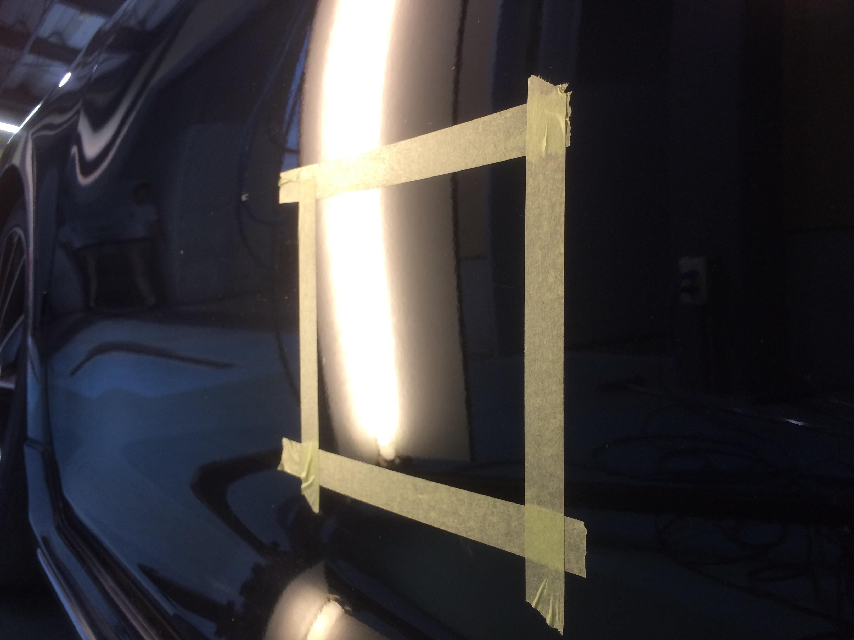 カムリのドアの凹み修理