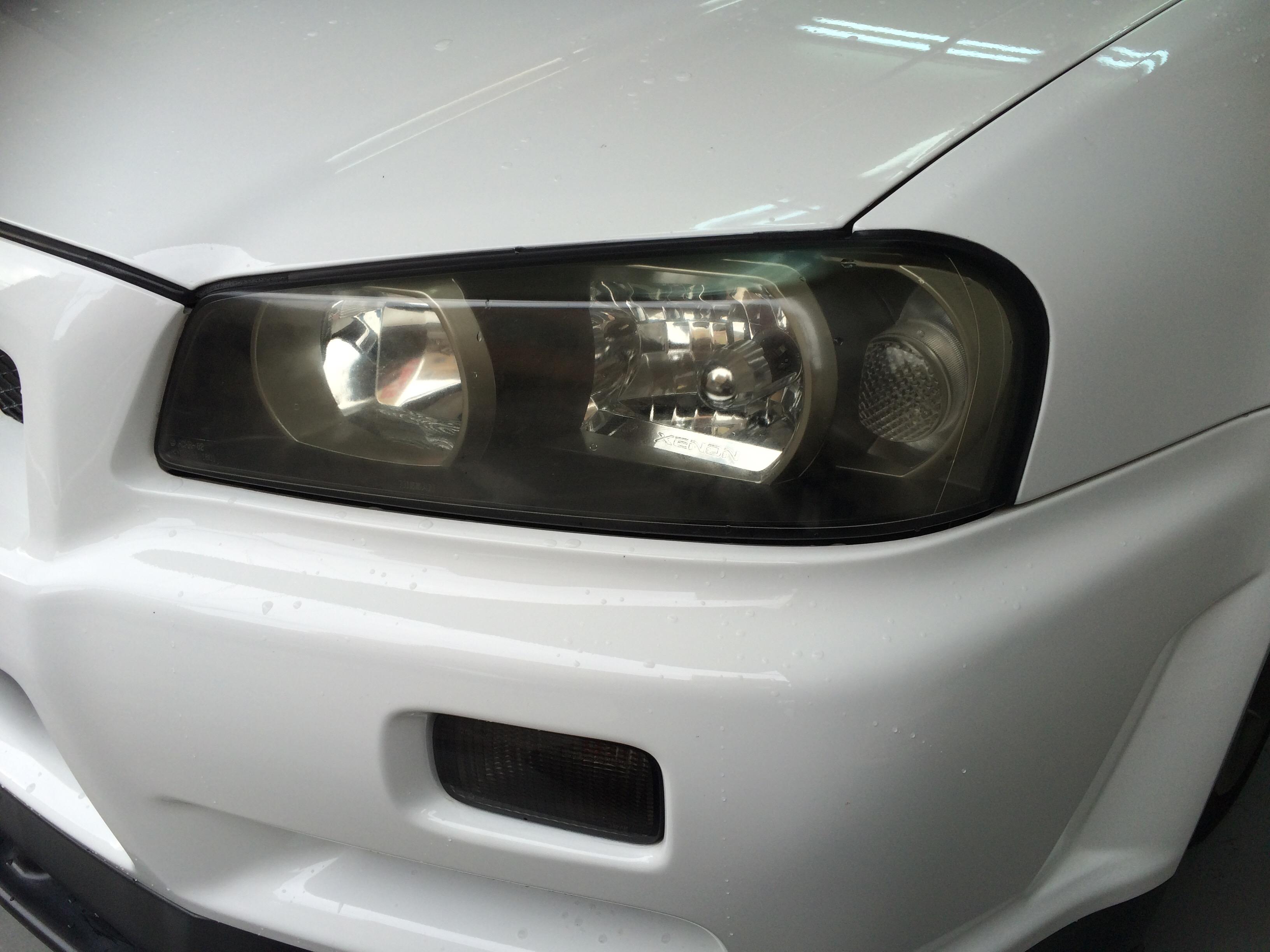 GT-R34 ヘッドライトの黄ばみ