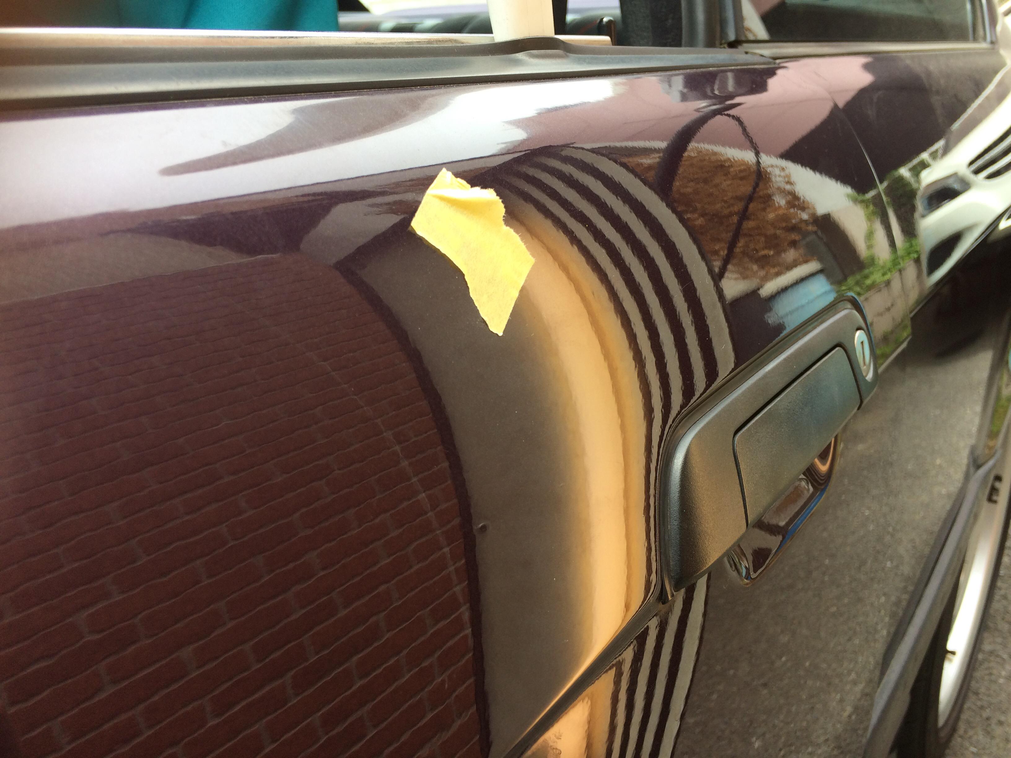 BMW M3 ドアのデントリペア