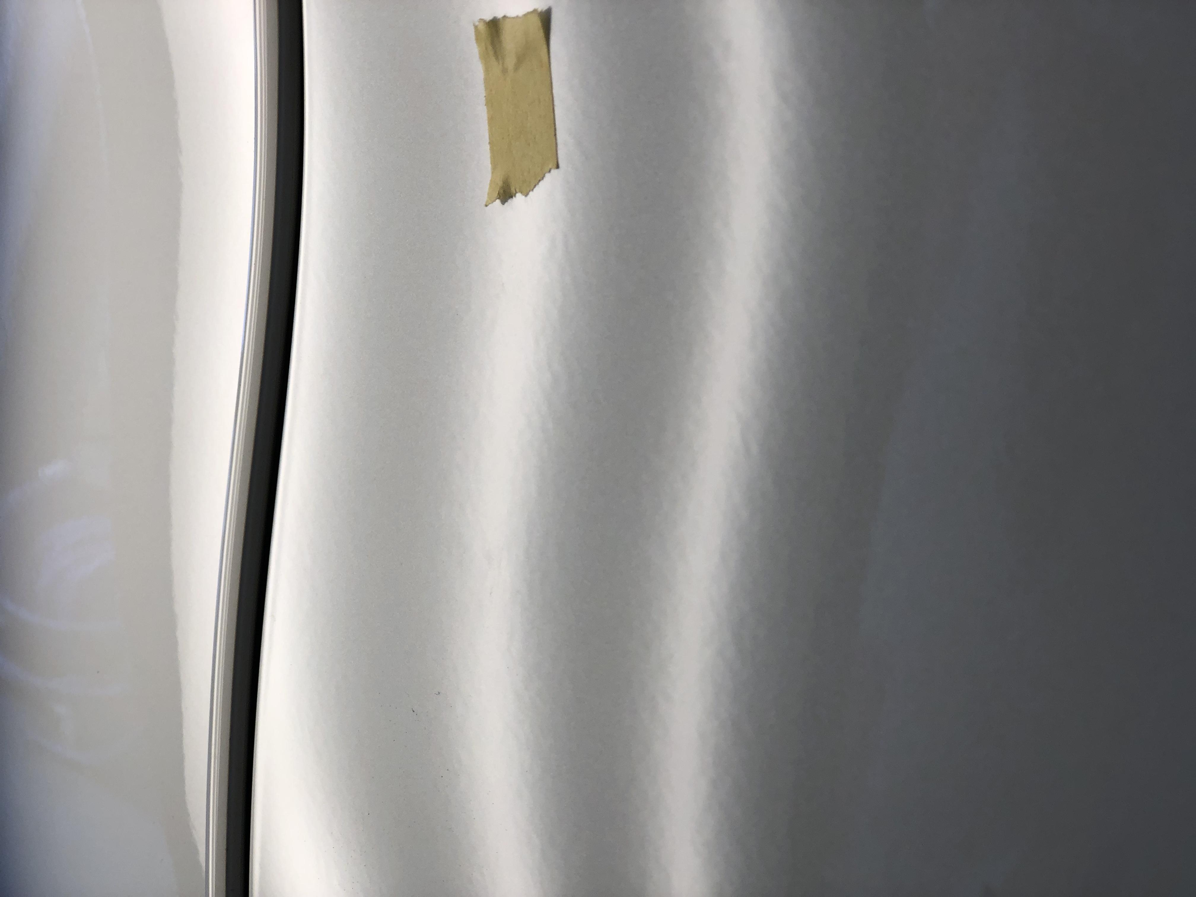 ベンツW222 アルミパネルのデントリペア