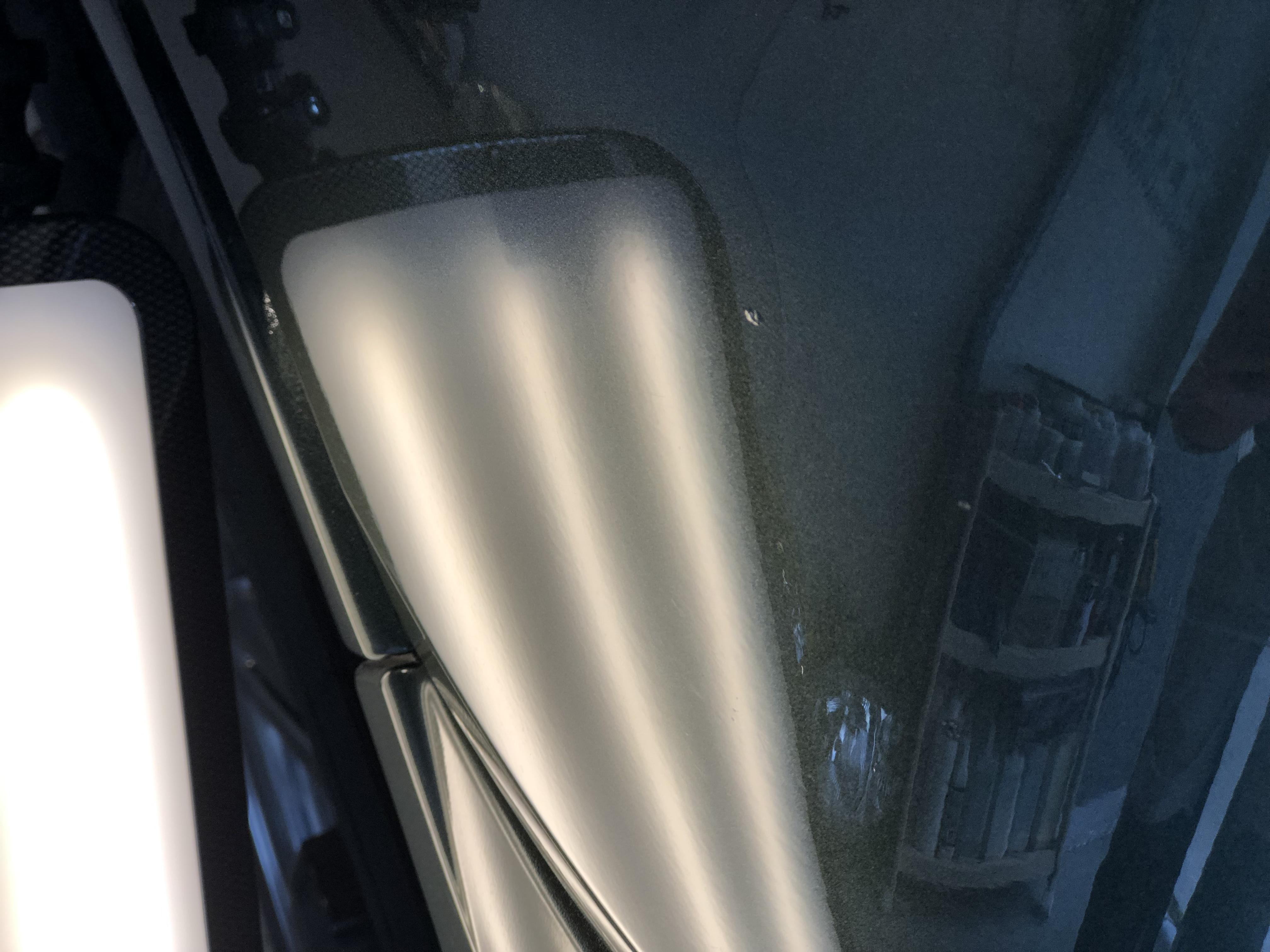 ジムニー フロントフェンダーのヘコミ修理