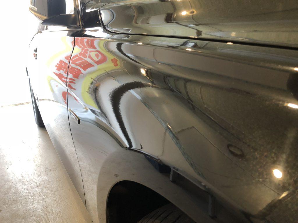BMW320d フロントフェンダーのデントリペア施工後
