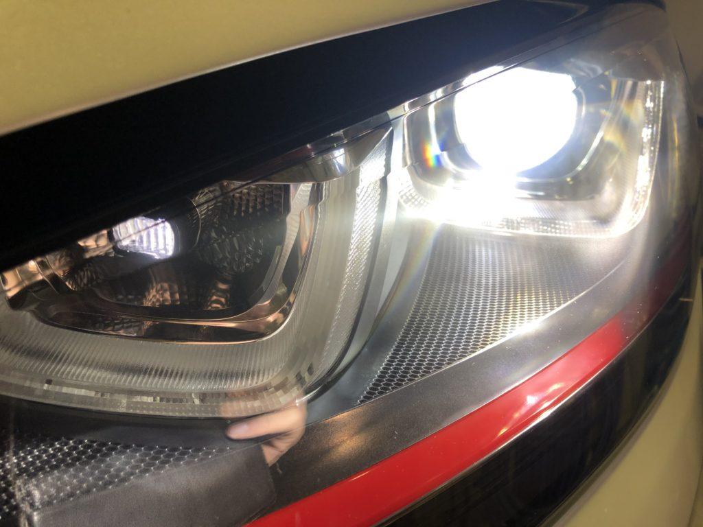 ゴルフⅦ GTI ヘッドライトリペア