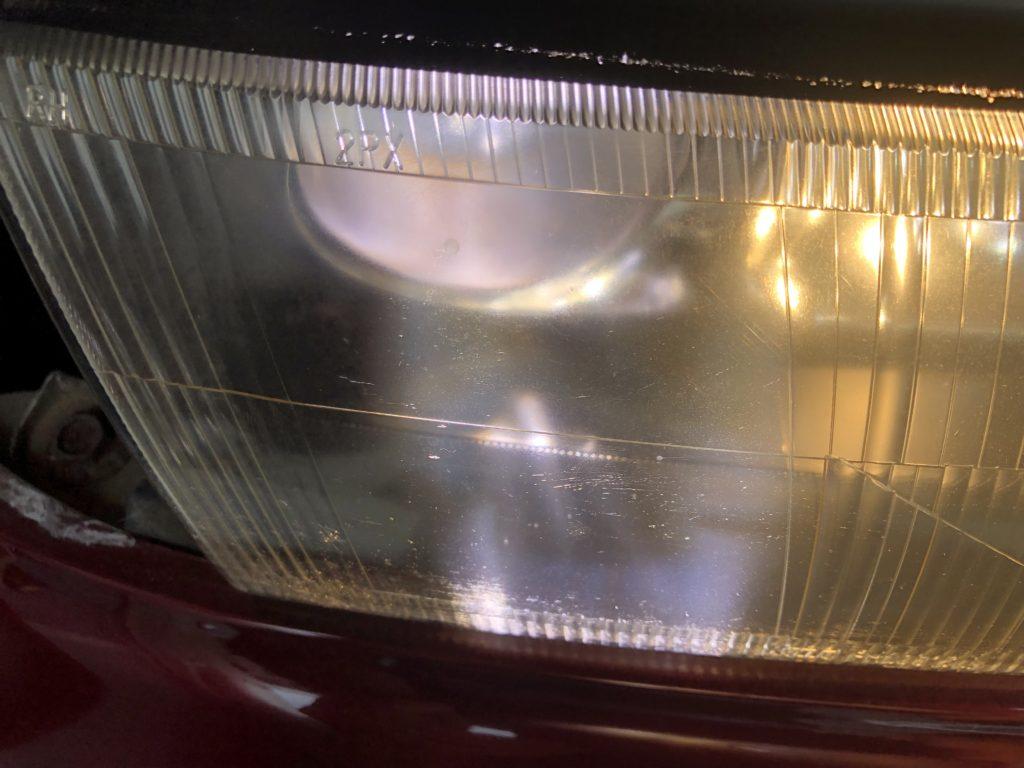 スバル SVX ヘッドライトクラック