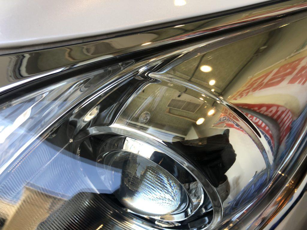 レクサス GS460 ヘッドライトクラック除去