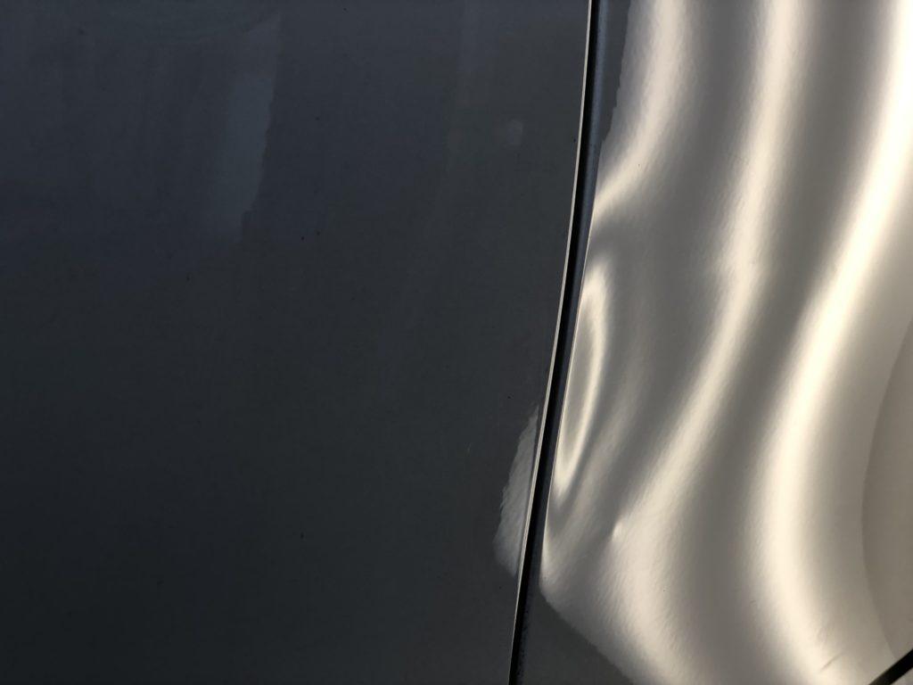 メルセデスベンツW204 リヤドアのヘコミ修理
