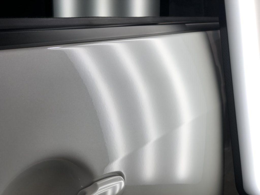 デリカD5 スライドドアのデントリペアプーリング
