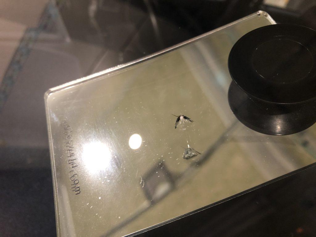 飛び石によるフロントガラスの傷