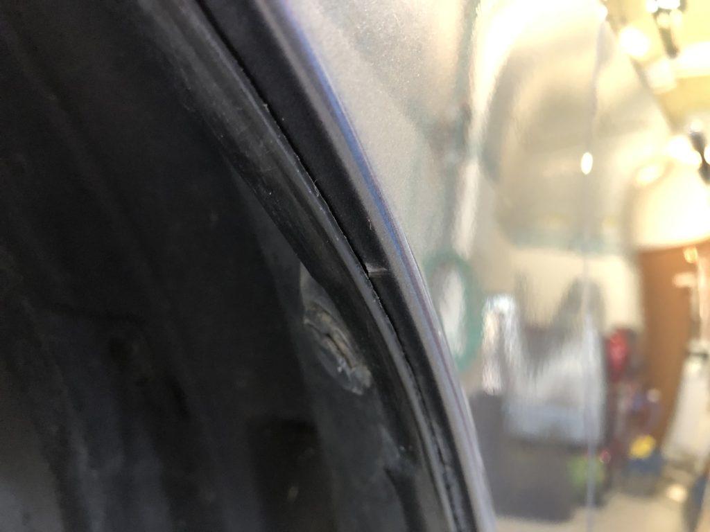 デントリペア施工後の縁部分の傷
