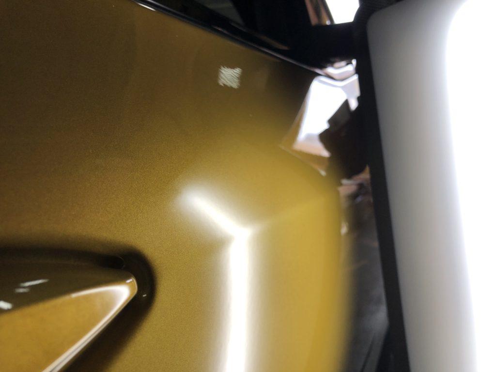 BMW X2 ドアのプレスラインのデントリペア施工後