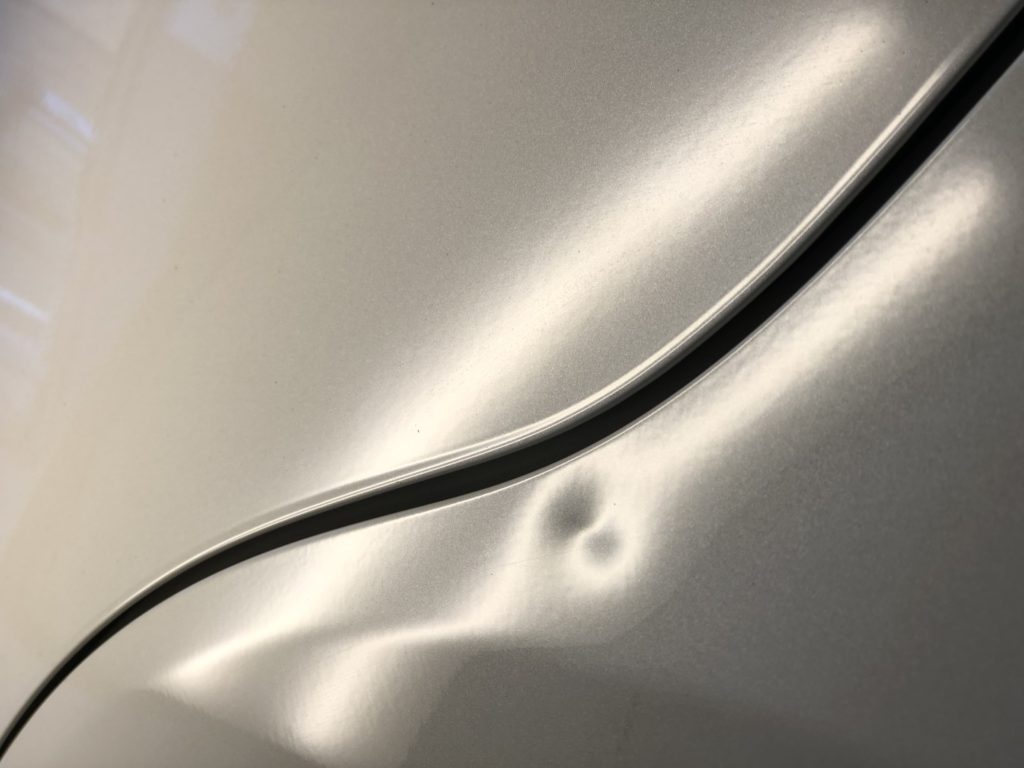 スバルWRX ロックピラーのデントリペア