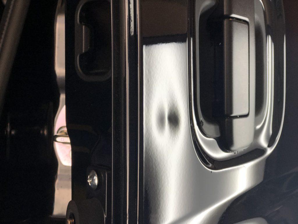 スズキ エヴリィ スライドドアのヘコミ修理