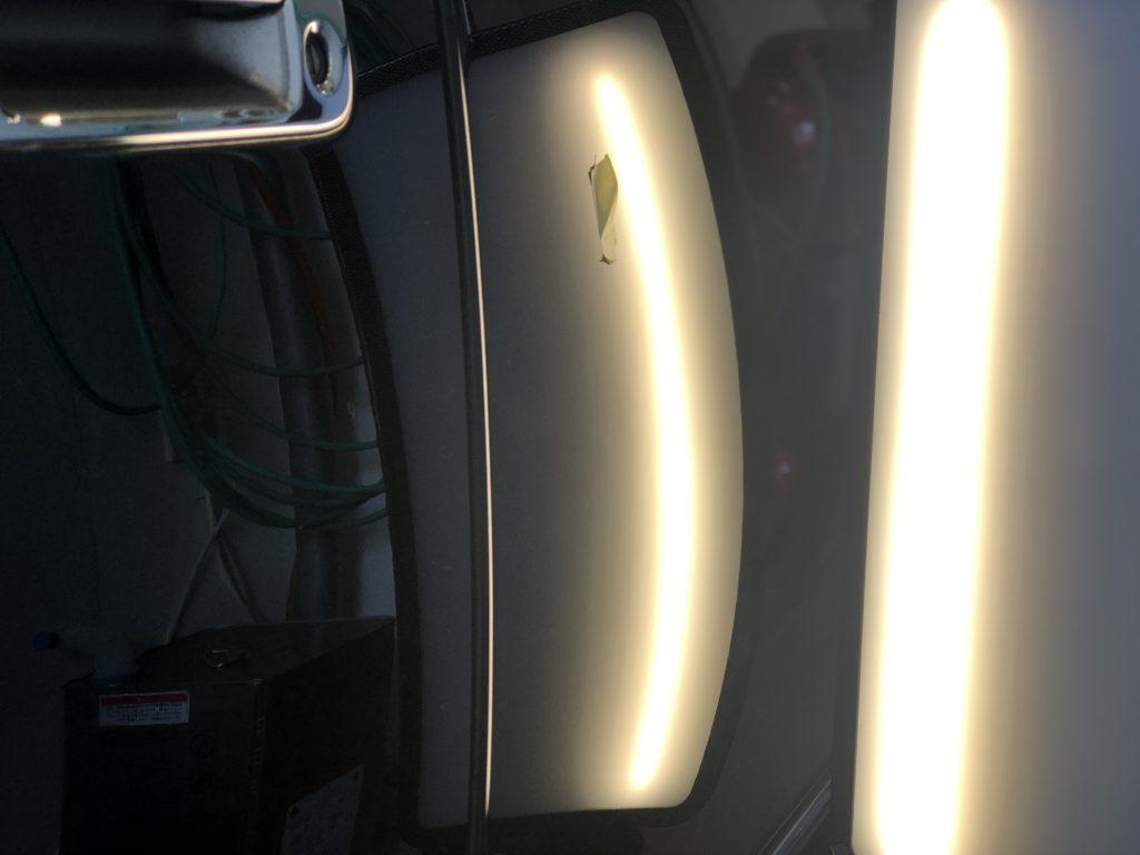 トヨタ センチュリー ドアのデントリペア作業後