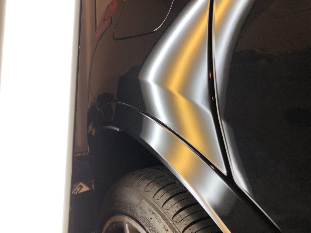 BMW X2  クォーターパネルのデントリペア作業後