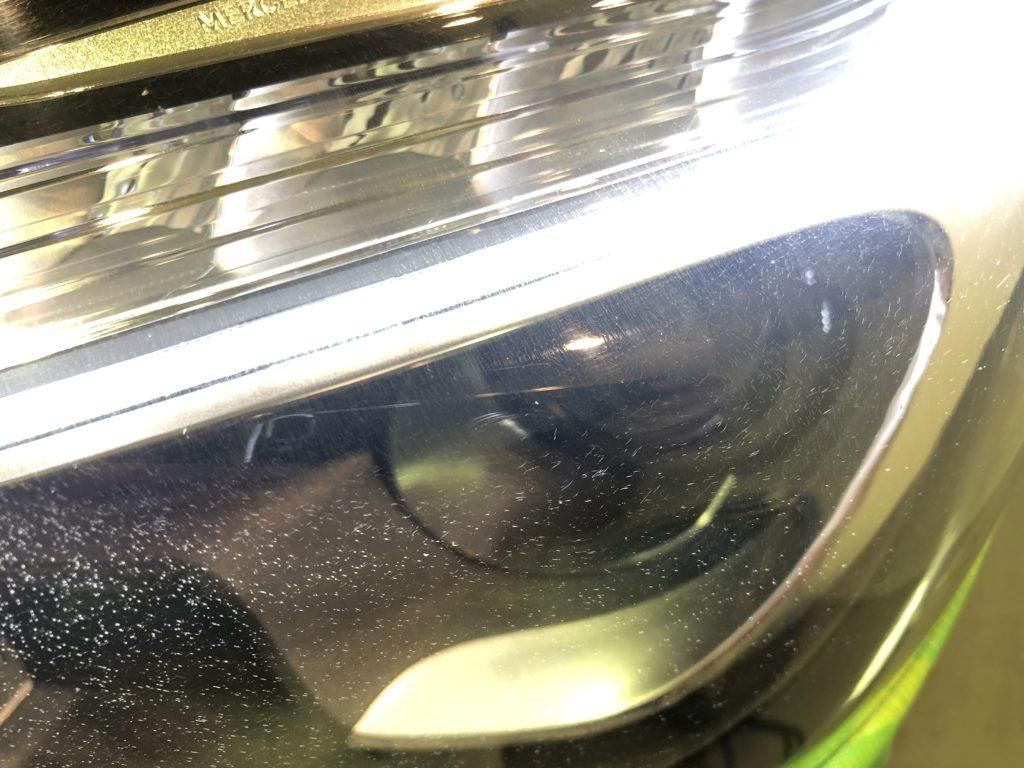 ベンツAMG SL63  ヘッドライトのひび・クラック除去