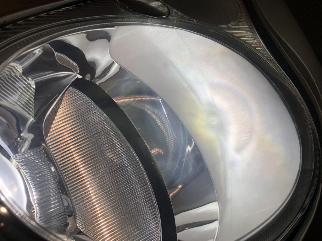 ポルシェ911(996) ヘッドライトのクラック除去