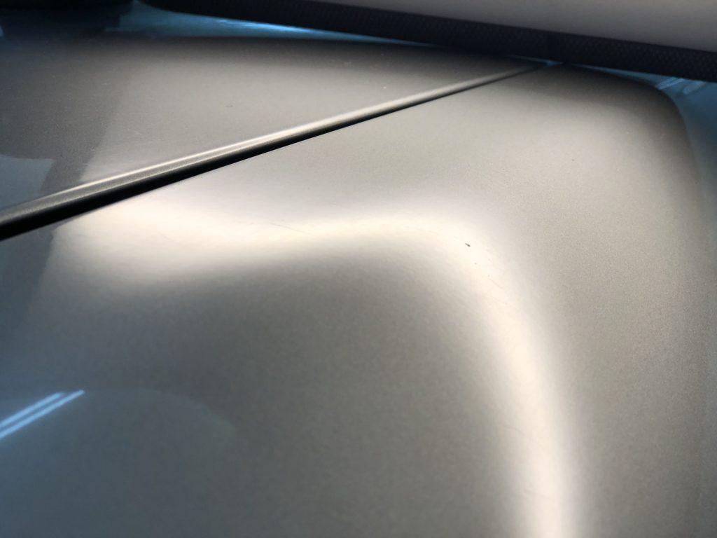 GT-R33 アルミパネルのデントリペア作業後