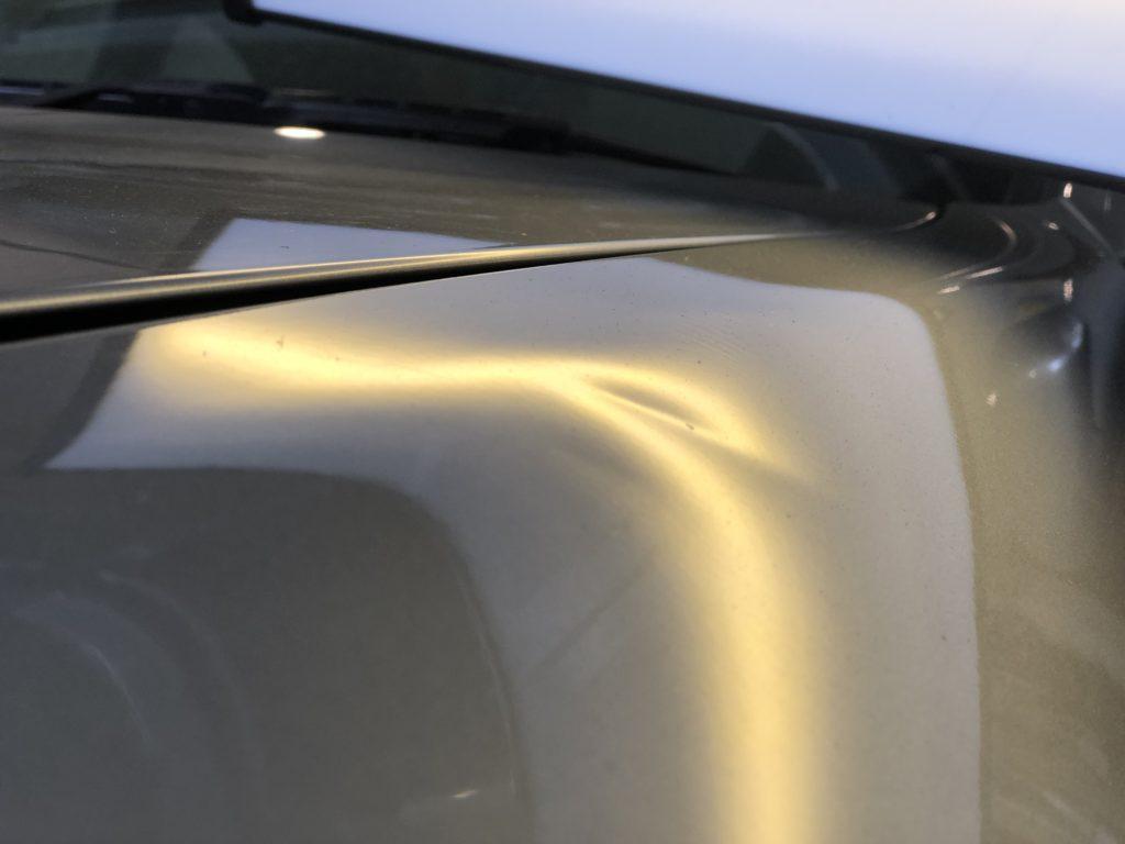 日産GT-R33  フロントフェンダーのデントリペア作業前