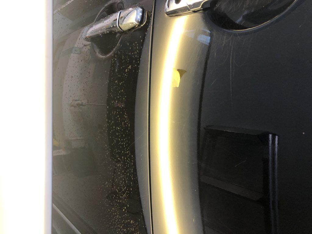 デリカ ドアのヘコミ修理