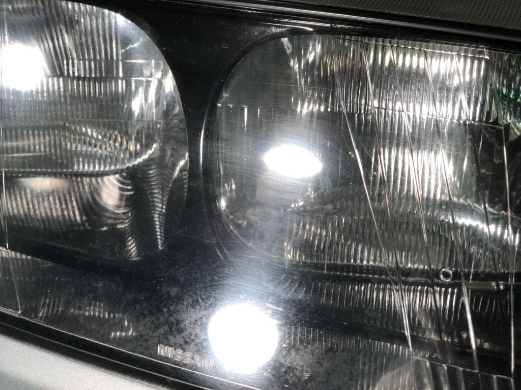 GT-R33  ヘッドライトの磨き傷