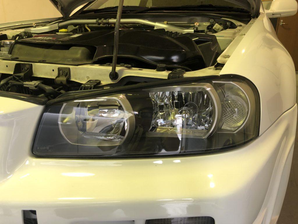 日産GT-R34  ヘッドライトリペア