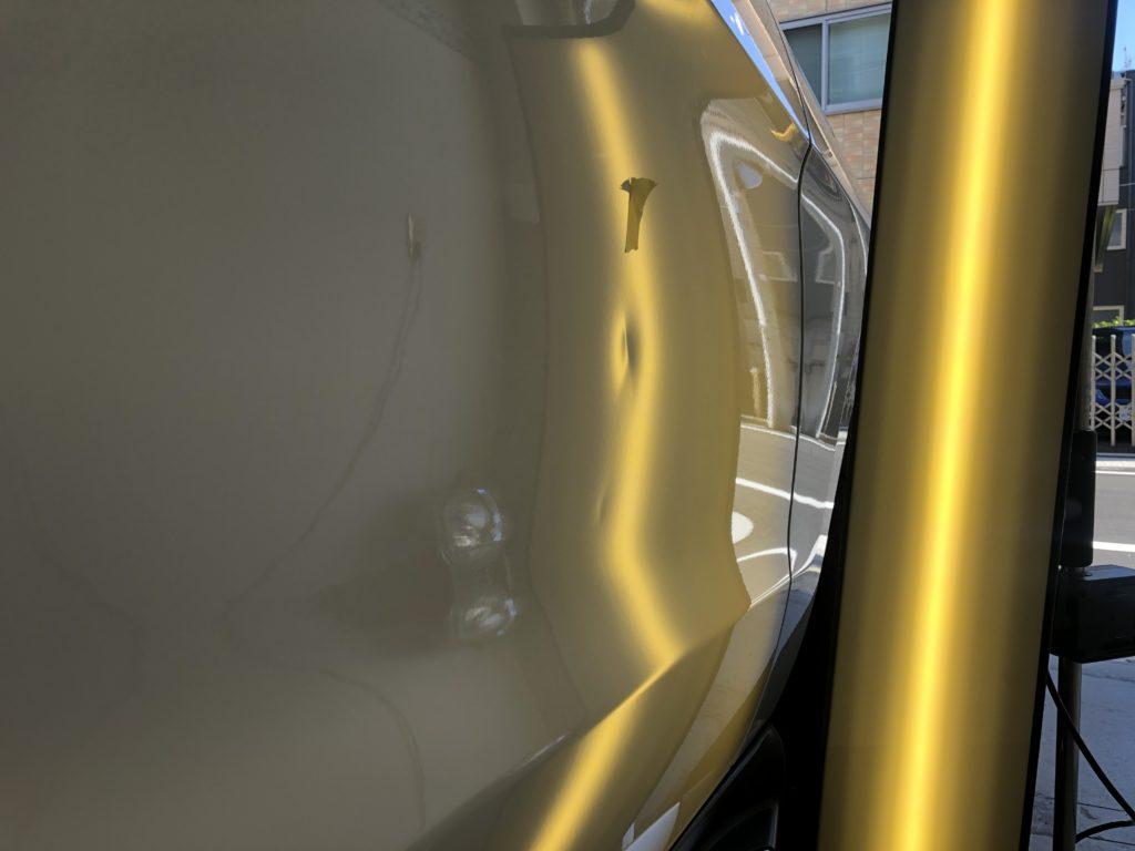 ベンツ GLE350d ドアの深いヘコミ修理