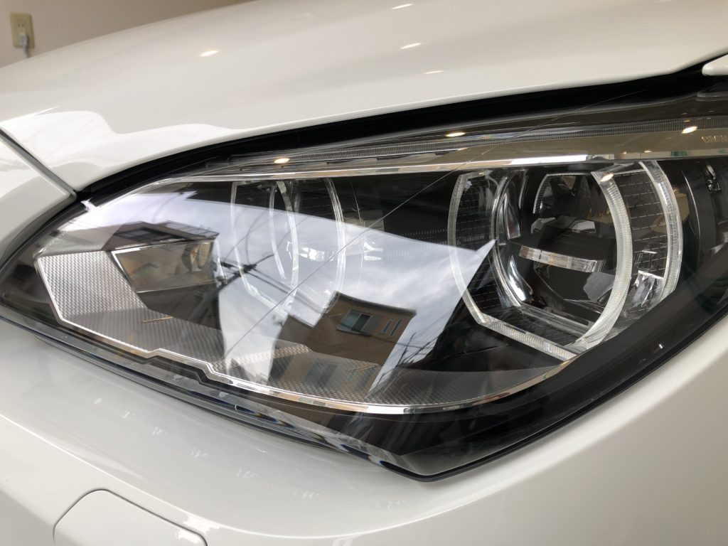 BMW 640 グランクーペ Mスポーツ ヘッドライト磨き