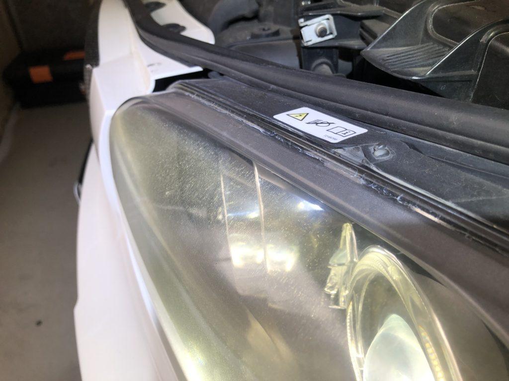 BMW1シリーズ ヘッドライトの黄ばみ