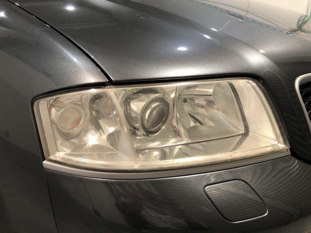 アウディRS6 ヘッドライトの黄ばみ