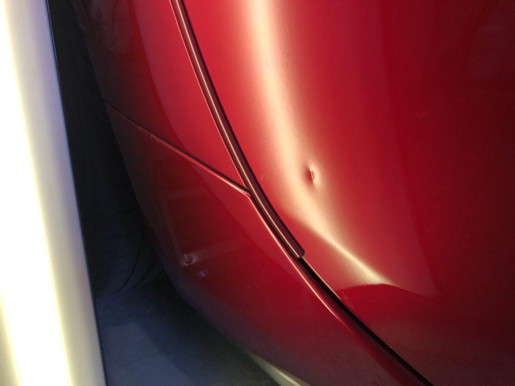 NDロードスター ドア下部の深いヘコミ修理