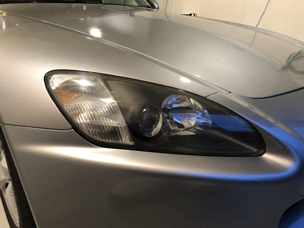 ホンダS2000 ヘッドライト磨き
