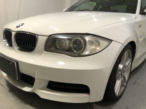 BMW1シリーズ ヘッドライト磨き